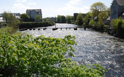 salmon weir bridge - view from